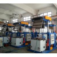 Quality PVC Film 0.025 - 0.07mm Thickness Blown Film Extrusion Machine With Pillar Under Electric Lift wholesale