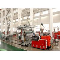 China 1220 mm PVC Marble Plastic Sheet Extrusion Line , PVC Decorative Wall Panel Making Machine on sale