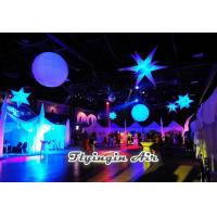 Quality White Hanging Inflatable Star with LED Light for Party, Bar and Event Decoration wholesale