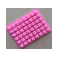 China High - Range Temperature Silicone Chocolate Tray For English Letters Learning on sale