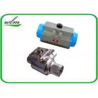 Cheap L Or T Type Sanitary Ball Valves Butt Weld For Chemical Fluids And Pharmacy for sale