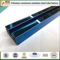 Cheap 300 Series Royalblue Grooved Stainless Steel Tubes for sale