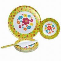 Quality Melamine Pizza Plates, Made of 100% Melamine, Available in Two Tone Color, FDA Certified wholesale