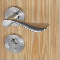 Quality Casting Solid Stainless Steel Handle Mortise Door Lock 54mm Escutcheon Diameter wholesale