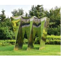 Quality Customized Large Outdoor Sculpture , Large Metal Yard Sculptures Stainless Steel Cloud wholesale