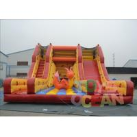China Yellow Giant Inflatable Slide Rental / Adult Bouncy Inflatable Dry Slides on sale
