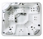 Quality 5 Person Capacity Hot Massage Tub , Hot Tub Spa Corner Drain Location PFDJJ 08 wholesale