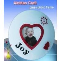 China Baby Round Glass Photo Frame,Heart Shape Picture on sale