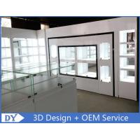 Quality Lacquer Finished Countertop Jewelry Display Cases / Jewellery Showroom Furniture wholesale