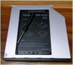 Quality 9.5mm E6400 2nd HDD Caddy For Dell E6410 SATA E6500 E6510 Second Hard Disk Caddy wholesale