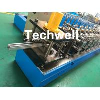 Quality 0-15m/min Cold Roll Forming Machine For Making Door Frame Guide , Shutter Door Slats Guide Rail wholesale