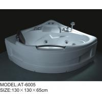 Cheap 6 big jets bathroom spa tubs , 130 * 130 * 65cm jetted soaking tub Excellent tenacity for sale