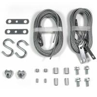 Quality Garage Door Wire Rope Assemblies Replacement 2 Sets Safety Cables wholesale