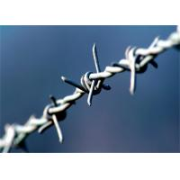 Quality Heavy Duty Barbed Wire Fence Galvanized Iron 4 Point 3'' For Farm Guard wholesale