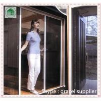 Quality China factory Polyester pleated mesh trackless retractable fly screen door wholesale