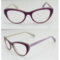 Quality Lightweight Acetate Optical Frame, Cool Purple Acetate Women Glasses Frames wholesale