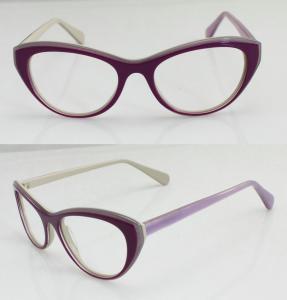 Cheap Lightweight Purple Acetate Women Eyeglasses Frames for sale