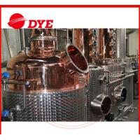 Quality 100% Red Copper Alcohol Distiller , Moonshine Distillation Equipment wholesale
