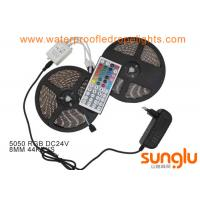 Quality Waterproof 24V 5050 RGB 300D 8mm LED Tape Strip Lights with XMAS Cabinet wholesale