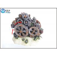 Quality Poly Resin Cool Fish Tank Decorations Gearwheel Action System 17.5 x 10 x 14cm wholesale