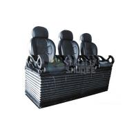 Quality Luxury black 3 seats / set Movie Theater Chairs By pneumatic / hydraulic Control wholesale