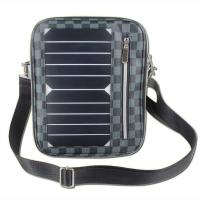 Quality 5W Water Resistan Solar Charging Backpack With Solar Panel Black Color wholesale
