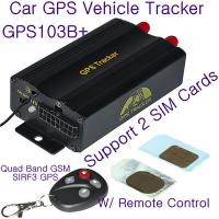 Quality GPS103B+ Remote Control Car GPS Vehicle Tracker W/ 2 SIM Slot & Central Locking Detection wholesale