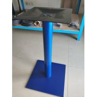 China Sqaure Powder Coated Table leg Adjustable Feet Stainless Steel Coffee Table Base on sale