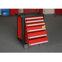 China Customized Color Storage Metal Tool Cabinets On Wheels With 6 Drawers on sale