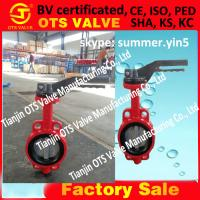 Cheap cast iron butterfly valve in tianjin DN100 for sale