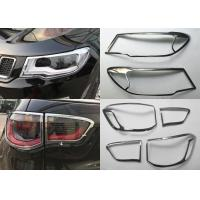 Quality JEEP Compass 2017 Decoration Parts Chromed Head Lamp and Tail Lamp Bezels wholesale