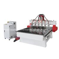 Quality 6 Spindle Heads Wood Relief CNC Router with 1300*1800mm Working Area Servo Motor wholesale