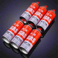 China Round Shape Portable butane gas cartridge can for portable gas stove on sale