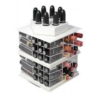 Quality Spinning Cosmetic Display Acrylic Lipstick Stand Holder Storage wholesale