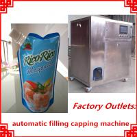 Quality hot sale small size automatic filling and capping cover machine wholesale