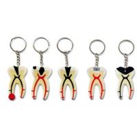 Quality Dental Keychain For Dentist Team Gift Molar Tooth Rubber Key Chain wholesale