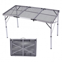 Quality Aluminum Metal Portable Grill Table For Outdoor Furniture wholesale