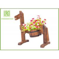 Quality Eco - Friendly Bamboo Flower Pots Succulent Containers Thickness 9mm wholesale