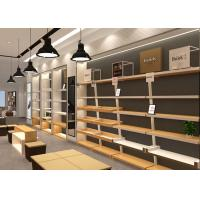 Quality Wooden Plus Veneer Shoe Display Fixtures Design With Dis - Assembly Structures wholesale