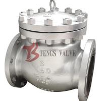 China Cast Steel Swing Check Valve , Flanged Non Return Valve ANSI 150LB H44H on sale