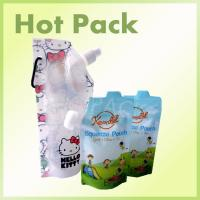 Quality BPA Free Stand Up Baby Food Squeeze Spout Pouch With Zip Lock Child Resistant wholesale