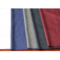One Side Wool Coating Fabric 25% Viscose 35% Polyester For Dry Cleaning Dress