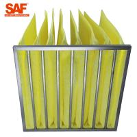 Quality Fiberglass Paint Pocket Filters , Bag Air Filter With Big Rated Air Flow wholesale