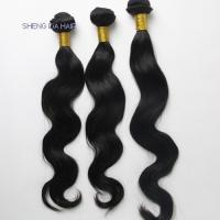 China 2013 Hot sale Body Wave Remy Indian Hair Black color free shiping on sale