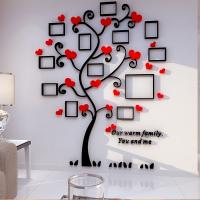 Quality Creative Home Decoration Self Adhesive Photo Frame Family Tree Wall Decal DIY Vinyl Removable Art Wall Sticker wholesale