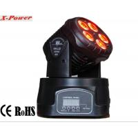 Quality Professional Dj Lighting Equipment , 5*15W RGBWA LED Mini Moving Head Wash Light   X-12 wholesale