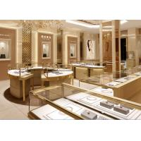 Quality Fully - Assembled Gold Metal Showroom Display Cases Customized 3D Design wholesale