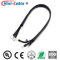 China Black Heat Shrinkable Tube DC 14AWG Power Supply Harness on sale