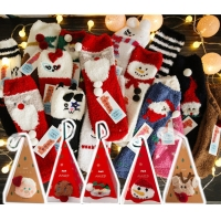China Wholesale Hot Sale Red Women Dress Crew Socks Christmas Unisex Knit Cotton Classic Assorted Socks on sale