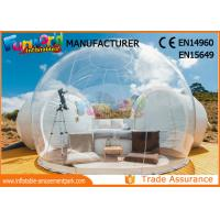 Quality Outdoor Camping Bubble Inflatable Party Tent / Clear Dome Igloo Tent wholesale